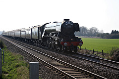 LNER class A3 4-6-2 60103 FLYING SCOTSMAN with 1Z62 Lincoln Central - Scarborough The Great Britain XI at Binington Crossing 19th April 2018