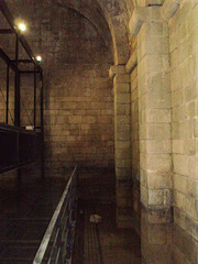 Inside the castle's cistern.