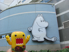 Sunny and the giant moomintroll