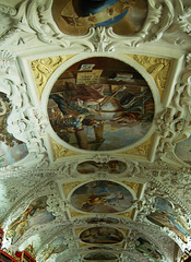 Detail of Ceiling the Theological Hall, Strahov Monastery, Prague