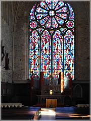 l'église abbatiale  de Léhon-Dinan (22)