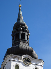 Belfry of the Cathedral of Saint Mary the Virgin in Tallinn Dome Church Estonia