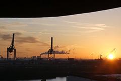 Dezemberabend am Hamburger Hafen
