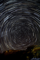 Star trails over Cyprus