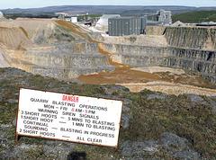 Quarry blasting operations