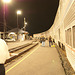 klamath falls train station night - amtrak