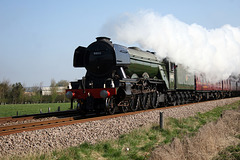 LNER class A3 4-6-2 60103 FLYING SCOTSMAN  with 1Z65 09.15 Scarborough -  York Holgate Loop The Great Britain XI at Spital Bridge ,Seamer 20th April 2018
