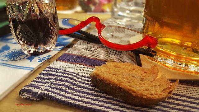 ... mit trocken Brot ...