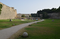 The Fortress of Rhodes, West Wall and St. George Bastion