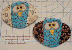 Owl Potholders - Aug 2019