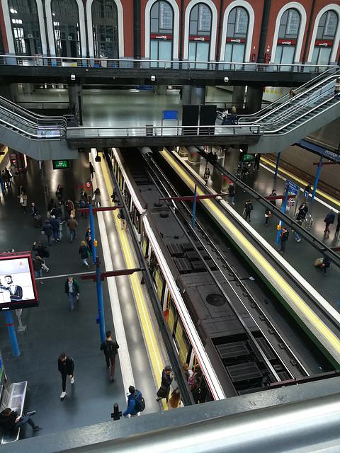Principe Pío mainline and metro station.