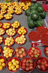 Straßenmärkte in Südkorea.