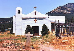Iglesia, Camino Alto - High Road to Taos, New Mexico.