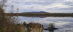 Vu sur la montagne et le lac Boivin Granby.
