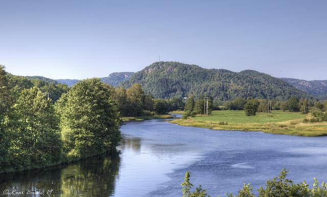 River Lygra, Lyngdal.
