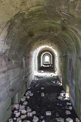 Raasay: Ironstone processing works - calcining kilns interior