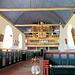 Kirchenschiff von St. Matthias in Jork mit Orgelempore