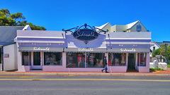 Sidewalk clothing shop, Hermanus