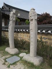 Non loin de l'étang d'Anapji, Gyeongju (Corée du Sud)