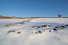 Stiperstones in winter.