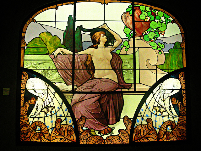 Emile Gallé, vitrail   stained glass
