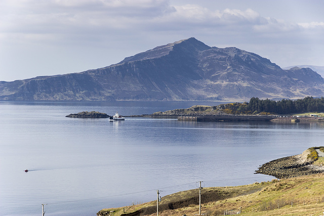 Raasay: Churchton Bay, Ferry, and Ben Tianavaig on Skye