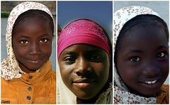 Enfants de réfugiés Malien et Nigérien.