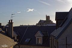 Pâques, une colombe traverse le ciel