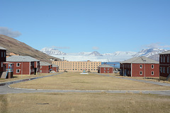 Svalbard, The Abandoned Miner's Settlement of Pyramiden, The Main Square