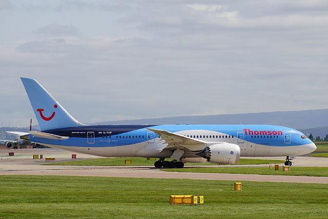 G-TUIF taxying at Manchester - 11 July 2015