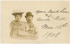 Aunt Lora and Uncle Will Are Coming Home, March 10, 1908