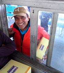 Kalka-Shimla- Bhupi With His Lunchboxh