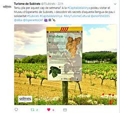 Subirats i el Museu d'Esperanto