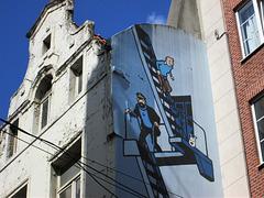 Tintin fire escape.