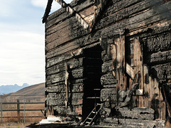 The charred remains of McDougall Memorial United Church