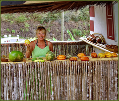 St.Lucia - Shopping di frutti esotici