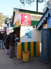 Kalka-Shimla- Tea Stall at Dharampur Himachal