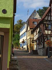 Gundelsheim: auf dem Weg hinauf zum Schloss Horneck