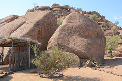 Namibia, Huge Boulders at the Entrance to the Damara Living Museum