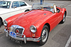 A little Red number ~ MGA Roadster