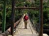 Author on a bridge