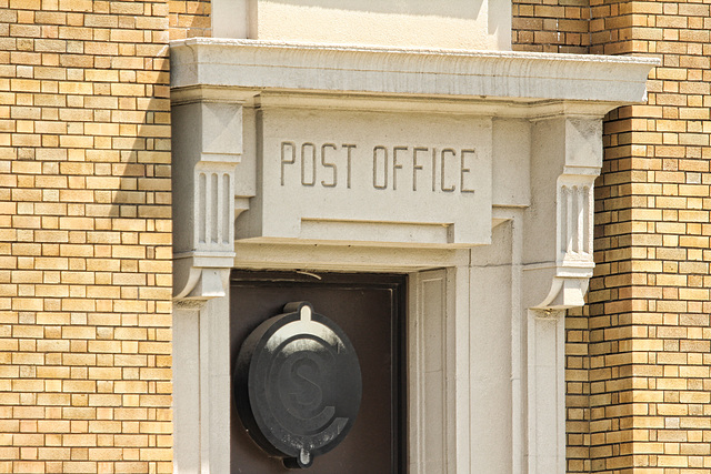 federal building - post office entrance