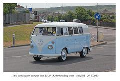 1966 VW camper van Seaford 29 6 2013