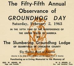 Groundhog Day, February 2, 1963