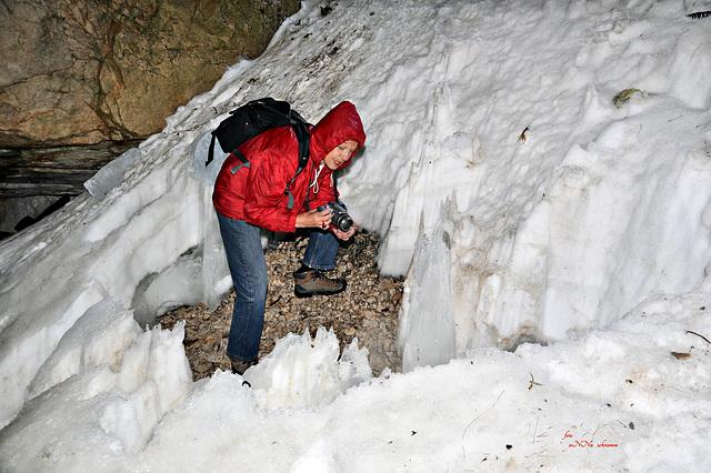 in der Wendelstein-Höhle, Osteinstieg ( 5 x PIP )