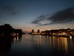 Kriseliges Handyfoto - aber mit Sommerabendstimmung ... :-D