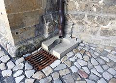 Kirchendachwasserabfluss