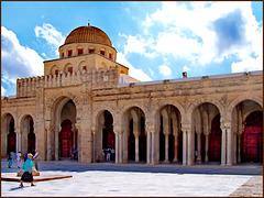 Kairouan : la grande moskea Ucba - entrata principale