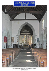 St Nicholas Pevensey from nave to  East window 24 7 2013