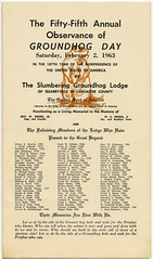 Groundhog Day Program, February 2, 1963 (Front)